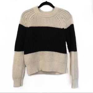 [KATE SPADE]Chunky Knit Sweater w Back Metal Bow M